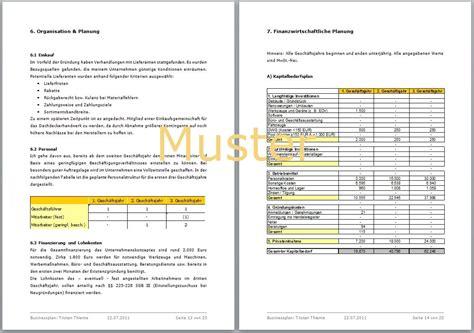 bueroservice businessplan vorlage