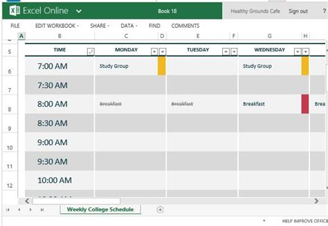 c template class exle how to easily create class schedules using excel