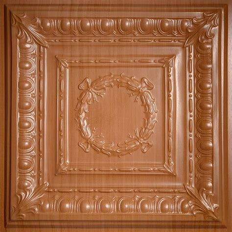 ceilume coffered ceiling tiles ceilume faux wood sandal 2 ft x 2 ft lay in