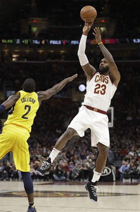 lebrons triple double guides cavs  pacers  blade