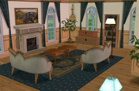 decoration salon salle a manger cuisine sims 2 l 39 intérieur de la maison maison coloniale