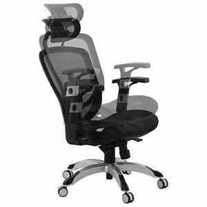 Fauteuil De Bureau Design : fauteuil de bureau design et moderne ergonomique axel en tissu noir ~ Teatrodelosmanantiales.com Idées de Décoration