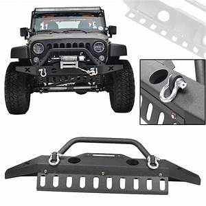 Front Bumper W  Oe Fog Light Hole Winch Plate D