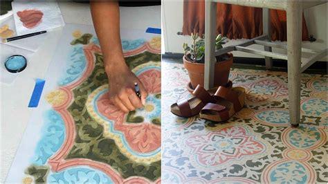 Stencil  Concrete Floor   Easy Steps