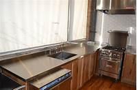 stainless steel counter Stainless Steel Countertops – Custom Metal Home