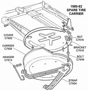 1980-82 Spare Tire Carrier - Diagram View