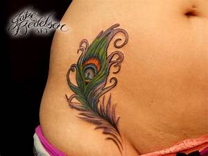 39+ Beautiful Feather Hip Tattoos
