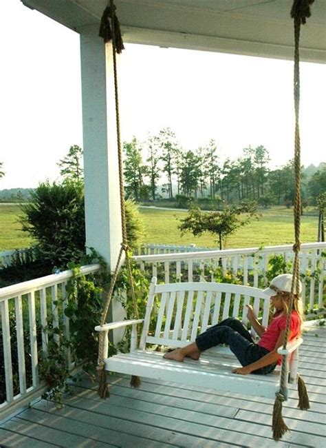 country house photo porch swing
