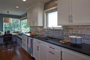 davausnet cuisine chene repeinte blanc avec des idees With idee deco cuisine avec modele de cuisine repeinte en gris