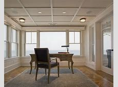 low ceiling solutions home office beach style with