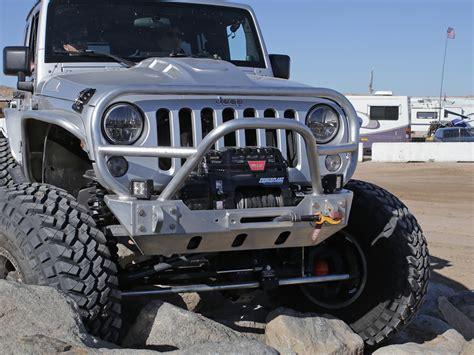 jeep bumper grill jk trail grill guard front bumper aluminum genright