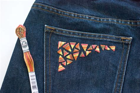 guide  hand embroidery  denim