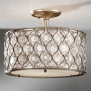 Crystal flush mount ceiling light baby exit