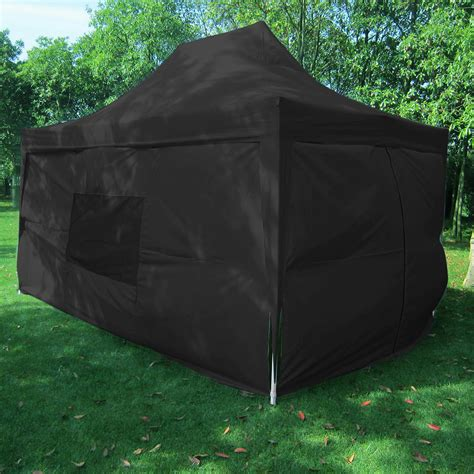 black pop  tent  sidewalls curtains