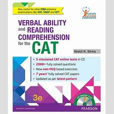 Verbal Ability And Reading Comprehension For The Cat 1e Paperback English 2016 Buy Verbal