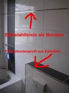 Fliesen Abschlussleiste Edelstahl : fliesenkantenprofile schienen als abschluss fliesen fieber ~ Michelbontemps.com Haus und Dekorationen