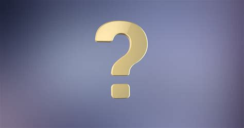 3d Question Mark Stock Footage Video