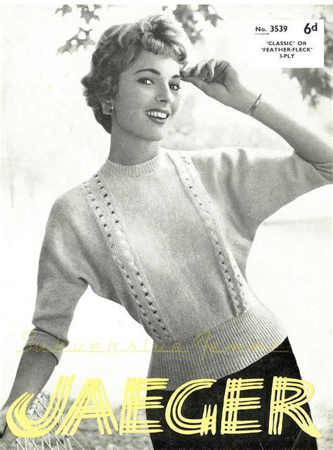 vintage pattern files  knitting dolman sweater