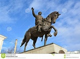 Tver, Russia - February 27. 2016. Monument To Founder Of ...