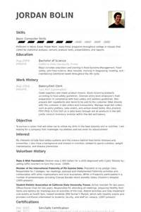 Deli Worker Resume Exle by Baker Resume Sles Visualcv Resume Sles Database