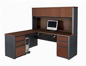 Bestar Prestige Shaped Desk Hutch Best L Shaped Desk With Drawers