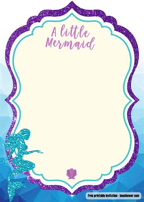 printable mermaid baby shower invitation templates