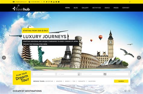 travel insurance website template 50 best travel themes free and premium