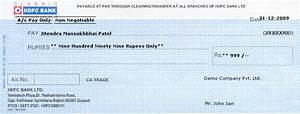 Bank Cheque: Icici Bank Cheque Leaf