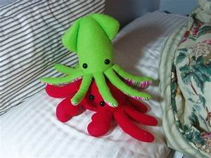 squid plush a squid plushie sewing on cut out keep