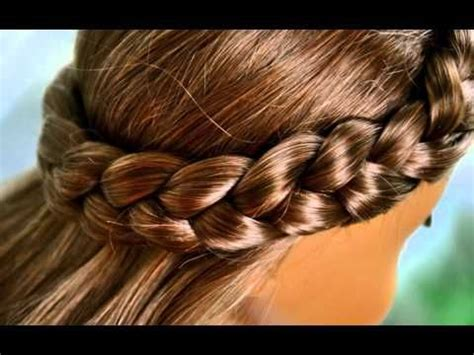 cute hairstyle for american girl dolls part 1 video of