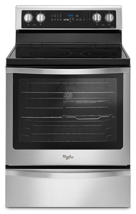 whirlpool stainless steel freestanding electric range 6 4 cu ft ywfe745h0fs s