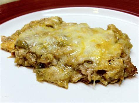 carb layla green enchilada casserole