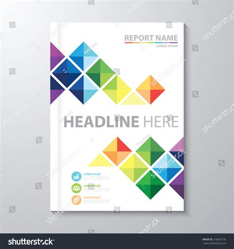 annual report cover in abstract design vector free abstract colorful triangle background cover design stock