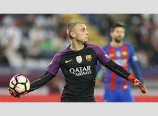 FC Barcelona Keeper Jasper Cillessen Playfully Blocks Fan