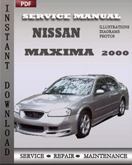 nissan scheduled maintenance nissan maxima 2000 service repair manual instant