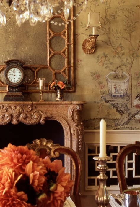hand painted chinoiserie wallpaper mural  de gournay