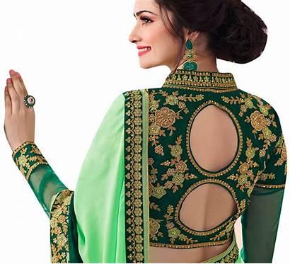 Blouse Designs Latest Neck Saree Designer Wear