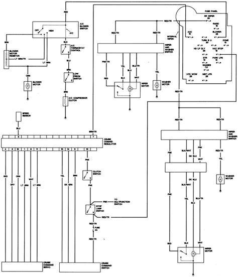 Free Auto Wiring Schematic Jeep by 1986 Jeep Cj7 Chassis 1 Of 2 Freeautomechanic