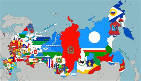 map  russia   flags   regions vexillology