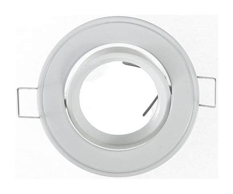 support spot led orientable rond d86 finition blanc 7702 luminaire