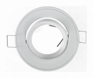 Support spot led orientable rond d86 finition blanc 7702 for Carrelage adhesif salle de bain avec support spot led gu10
