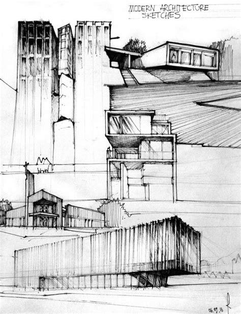 Modern Architecture Sketches Archstudentcom