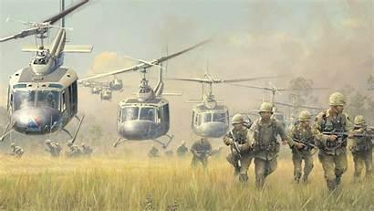 Vietnam Huey War Landing Background Bell Iroquois