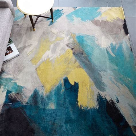 teal and yellow rug 15 best rugs for your wood floors