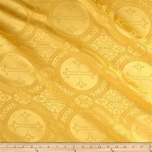 Clergy Brocade Gold - Discount Designer Fabric - Fabric com