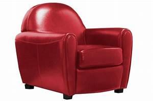 Fauteuil club simili cuir rouge broadway fauteuils for Fauteuil club rouge pas cher