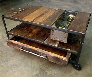 Coffee Table: Awesome Good Looking Industrial Coffee