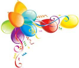 Birthday Balloon Border Clip Art