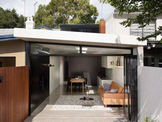 renovated  century terrace house merges