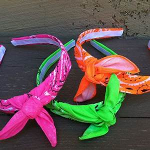 Bandana Knot Headband NEON PINK from shirkdesigns on Etsy
